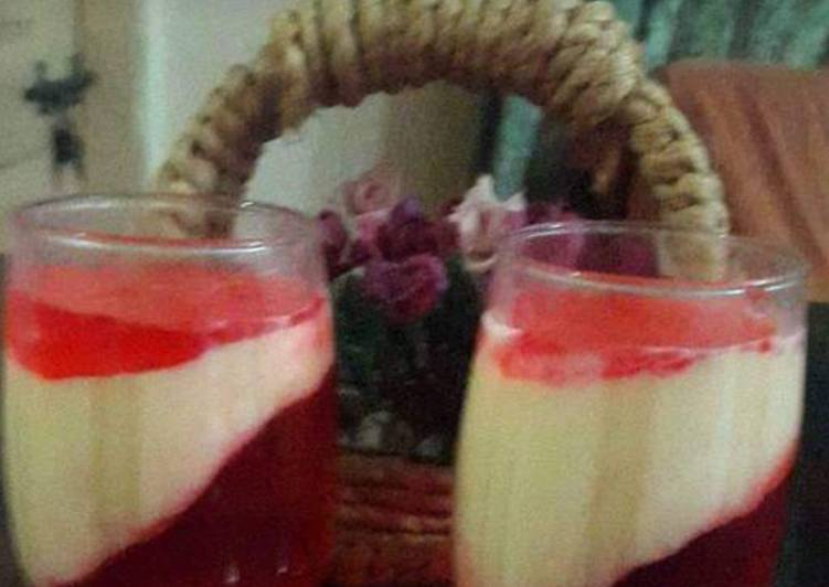 Simple Way to Prepare Favorite Glass dessert