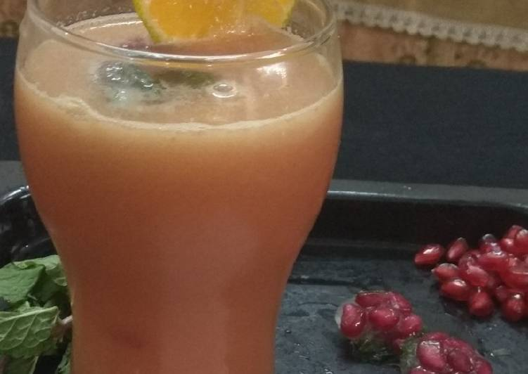 Step-by-Step Guide to Prepare Super Quick Homemade Pomegranate-Orange-Ginger -Cooler