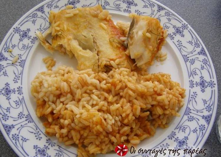 Easiest Way to Make Tasty Cod in the oven with rice and herbs!