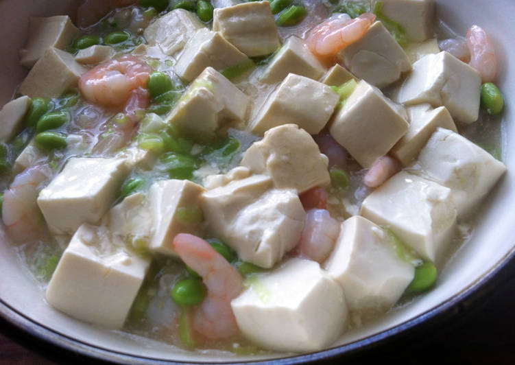 Step-by-Step Guide to Make Quick Braised Tofu with Prawns & Edamame
