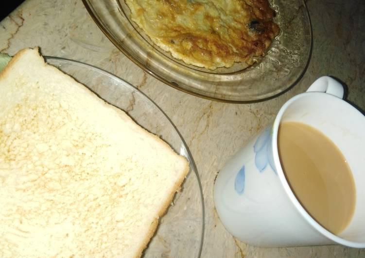 Anda toast aur chaey 😍