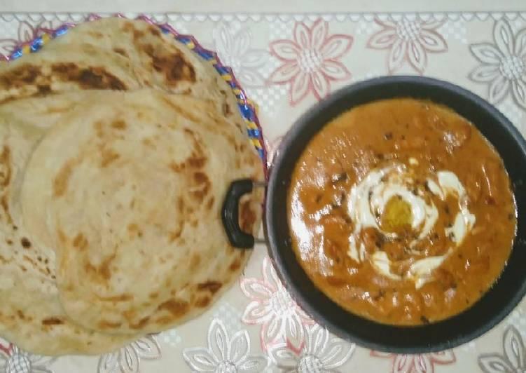 Makhni Handi with lachay daar paratha