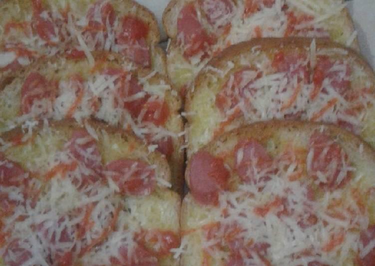 Resep Roti tawar renyah gurih ala pizza, Sempurna