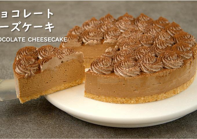 No-Bake! Chocolate Cheesecake【Recipe Video】