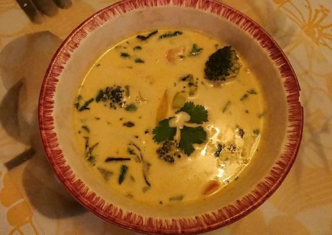 Soupe thai poulet