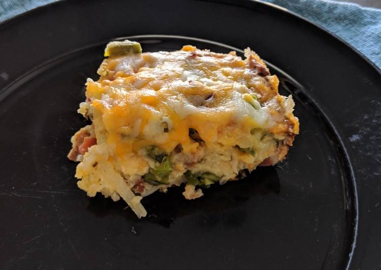 Bacon & Asparagus Breakfast Casserole