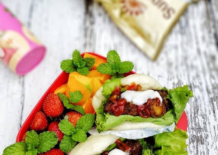 Resep Sandwich Pao isi Stik Ayam Paling Gampang