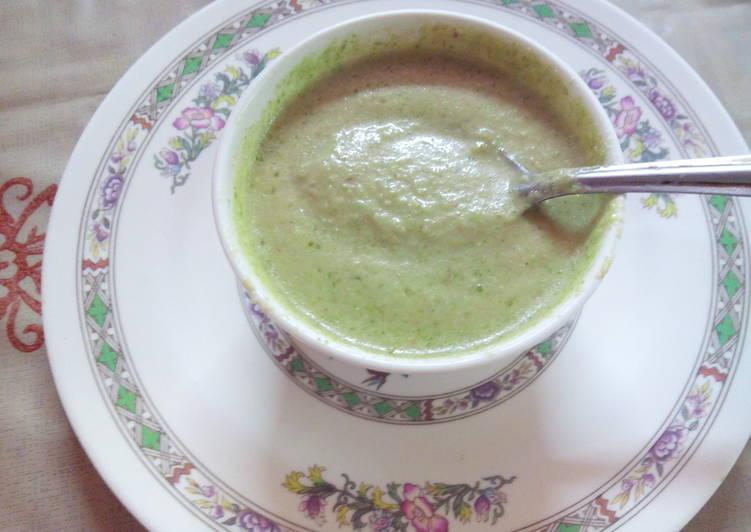 Theeka Meeta Green Coriander Chutney- spicy yet sweet bit!
