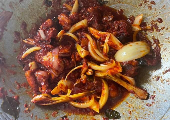 Ayam masak merah terpaling mudah