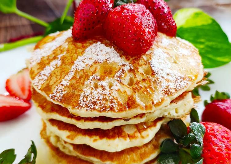 Easiest Way to Prepare Super Quick Homemade Strawberry pancake