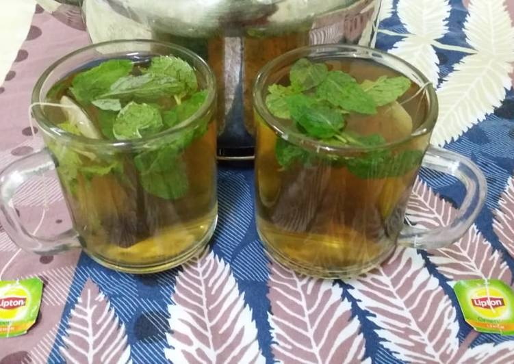 Easiest Way to Cook Appetizing Mint Green Tea