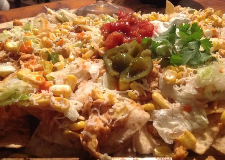 Recipe of Any-night-of-the-week Buffalo Chicken and Corn Nachos