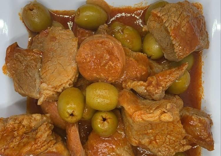 Sauté de porc à la Lisbonne au Cookeo