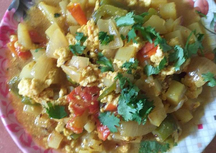 Aloo capsicum paneer curry Deciding on Healthy and balanced Fast Food