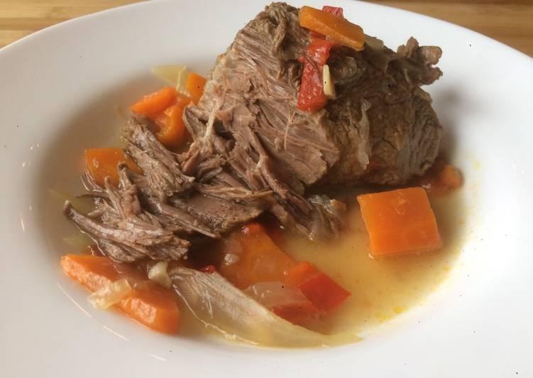 Carne Mechada Para Cortar Con El Tenedor Receta De Angélica Vigorena Cookpad