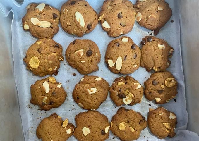 Cookies almond coklat chips no mixer
