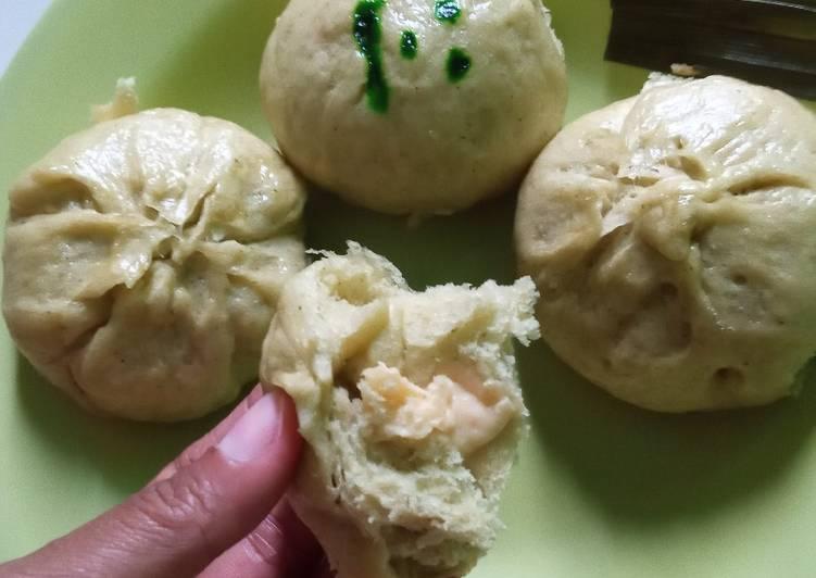 Resep Pao kangkung isi keju coklat ikan Favorit