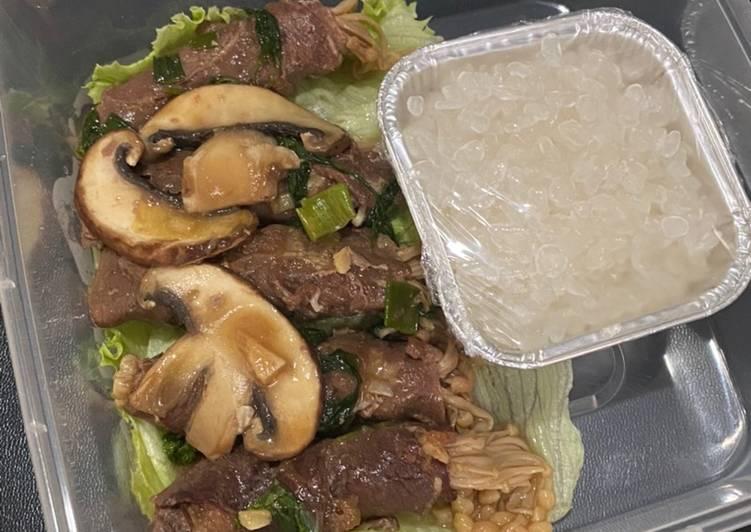 Cara mudah membuat Beef roll enoki (menu diet)