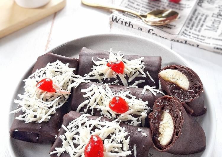 (1.22) Dadar Gulung Pisang Coklat