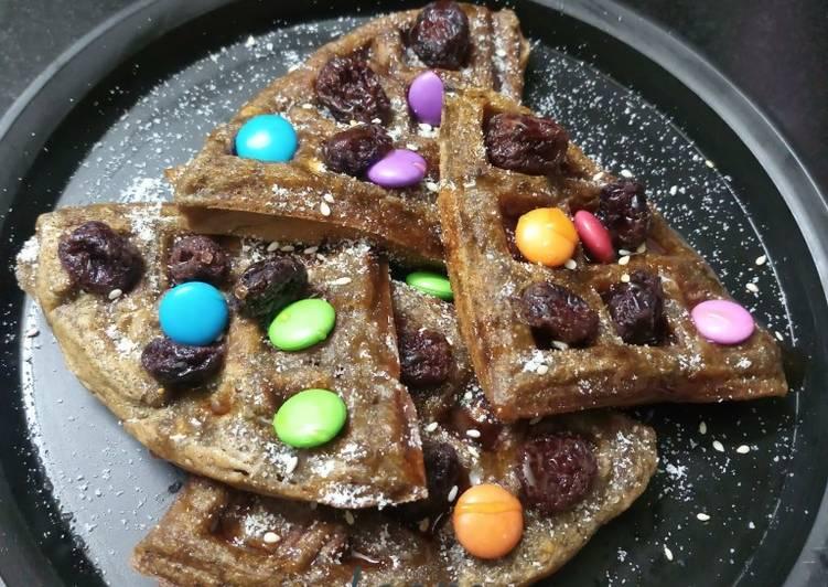 Vegan chocolate waffle