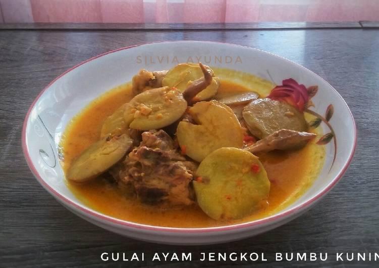 Gulai Ayam Jengkol Bumbu Kuning