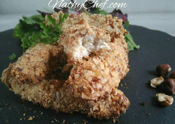 Blanc de poulet à la panure de noisettes/parmesan