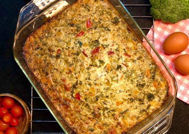 Recipe of Favorite Peppery Crustless quiche