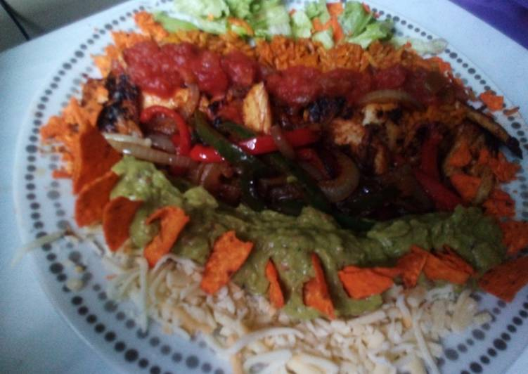 Cheat Chicken Burrito 'Bowl'