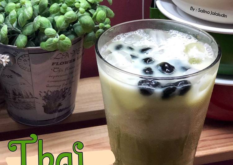 Thai Green Tea with Black Pearl Bubble * - resepipouler.com