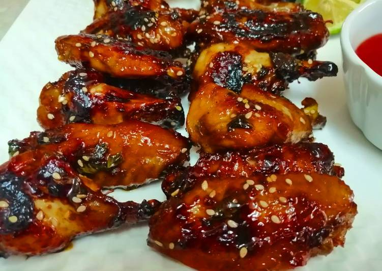 Recipe of Favorite Honey and Soy Chicken Wings
