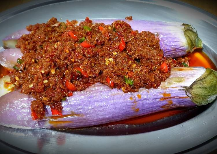 Recipe: Perfect Spicy Mincemeat Brinjal