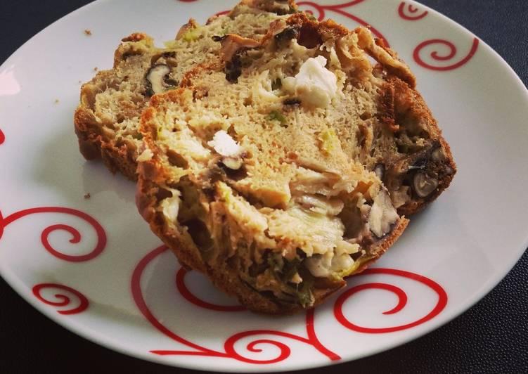 Le moyen le plus simple de Faire Parfait Cake aux poireaux, aux noix, au fromage de chèvre avec une pointe de curry !
