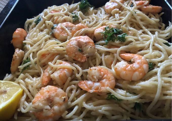 Recipe: Perfect Lemon Garlic Shrimp Pasta