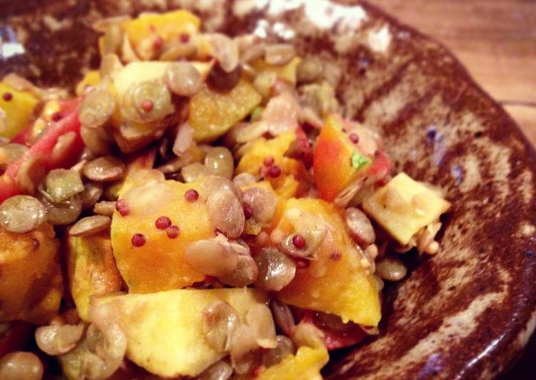 Lentil Salad with Roasted Butternut Squash and Potatoes