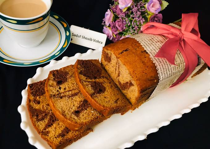 How to Cook Perfect Marble banana bread