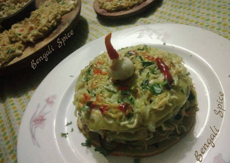 Indonesian Martabak Mie recipe with Bengali Fusion 🍝(pancake)