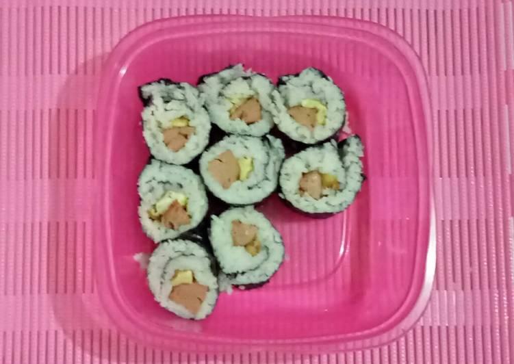 Sushi Anak Kosan #resepanakkos #cookedbydita