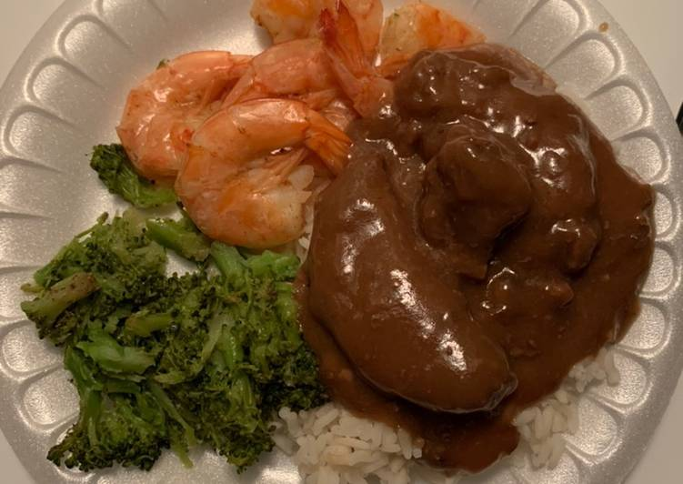 Recipe: Perfect Beef,shrimp and broccoli special