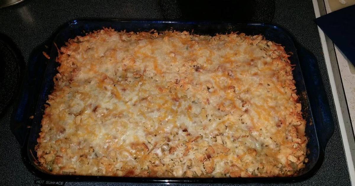 Beef & Broccoli Stuffing Casserole