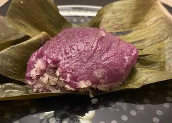 Easiest Way to Recipe Tasty Purple yam in banana leaves kue bugis