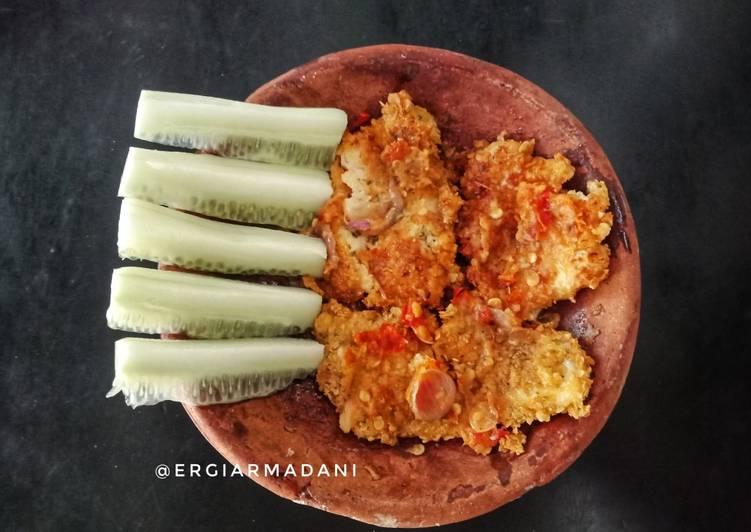 Ayam geprek oatmeal (menu diet)