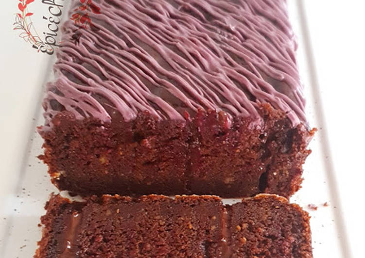Délicieux Cake qui pleure chocolat betterave