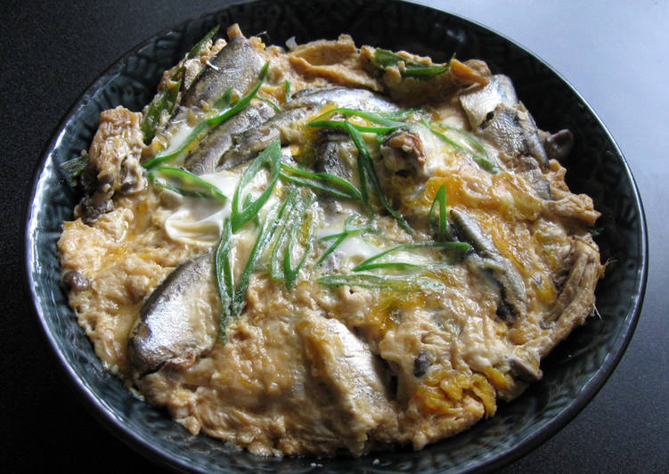 Recipe of Ultimate Sardines & Egg Rice Bowl