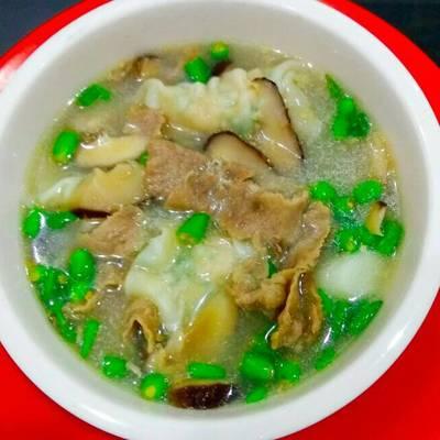 Resep Sup Jamur Shitake Pangsit Daging Sukiyaki Oleh Maria Crishtabella Cookpad