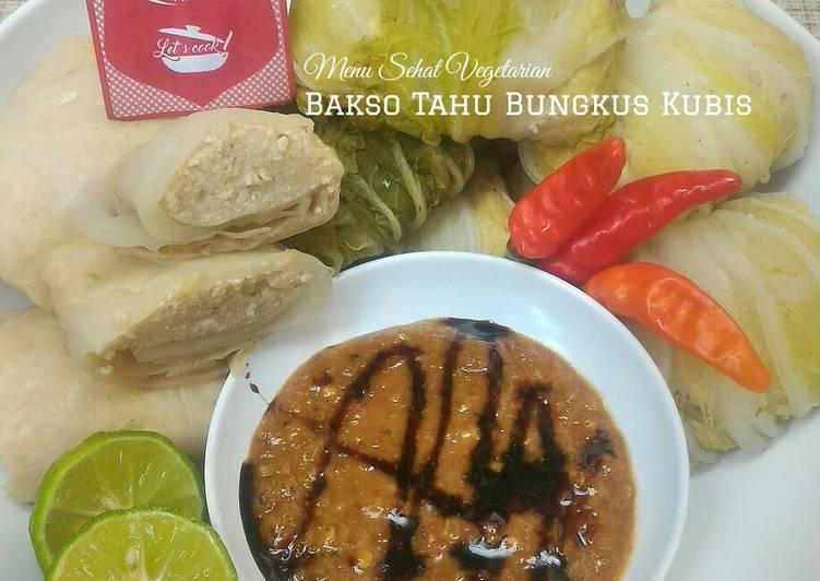 Bakso Tahu Bungkus Kubis (Menu Sehat Vegetarian)