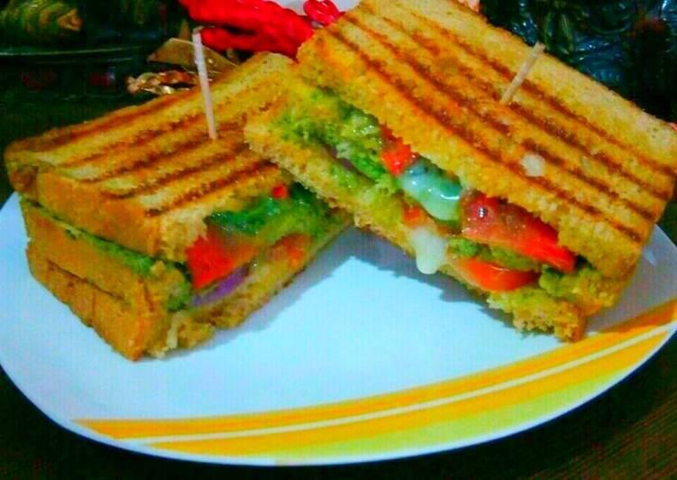 Veg cheese grill sandwich