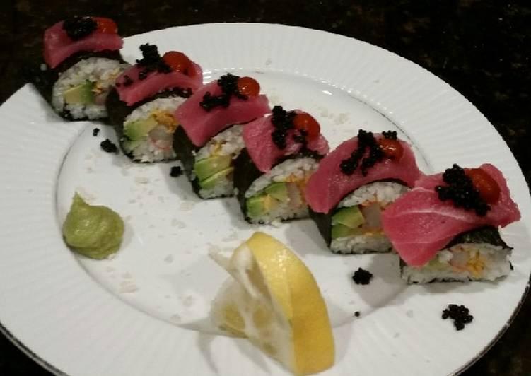 Brad's spicy tuna California rolls