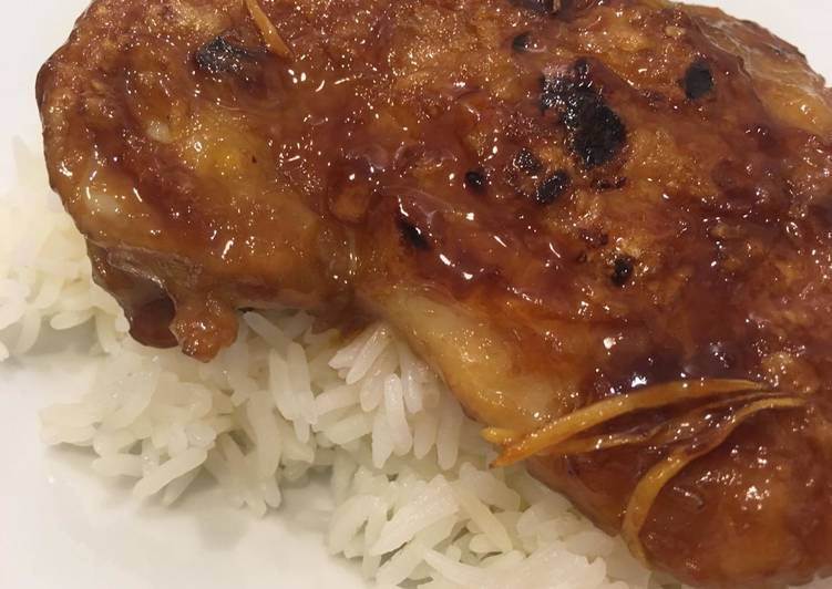 Recipe: Appetizing Simple teriyaki chicken (No Oil Needed)