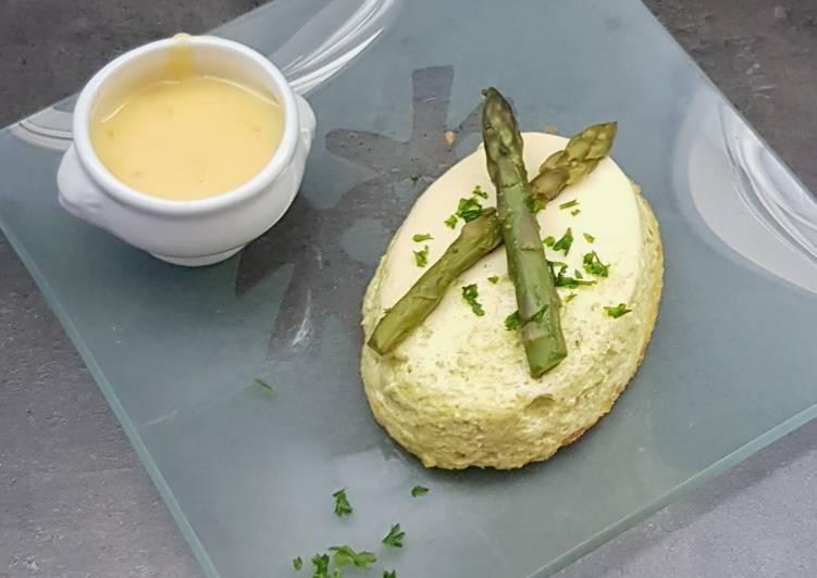°flan aux asperges et parmesan°