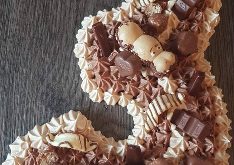 How to Make Appetizing Number cake carambar & chocolat